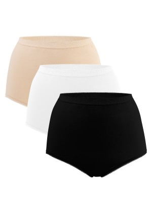 3er Pack Damen Taillenslips - classic mix