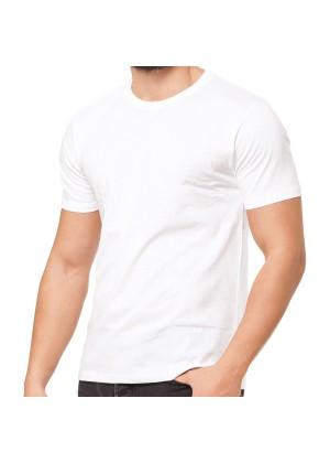 2er Pack Basic Herren T-Shirt aus Baumwolle mit Rundhals - weiß
