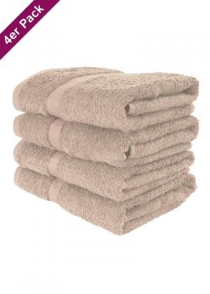 4 weiche Frottee Handtücher 50x90 von TERRYLAND Doeskin