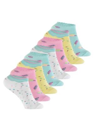 Footstar Kinder Sneaker Socken (8 Paar) Bunte Kurzsocken für Mädchen & Jungen - Pastell Mix