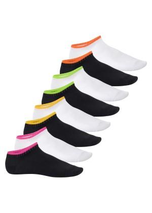 Footstar Herren & Damen Sneaker Socken (8 Paar), Kurze Sportsocken im Neon Look - Neon Flash - Mix