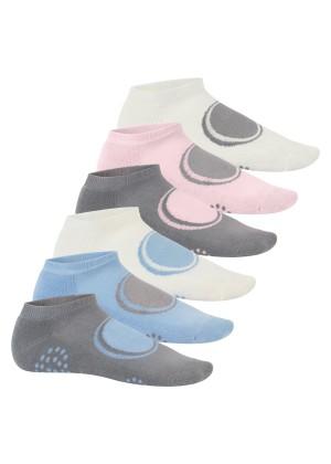 Footstar 6 Paar Sneaker-Socken mit Frotteesohle - Pastell Mix