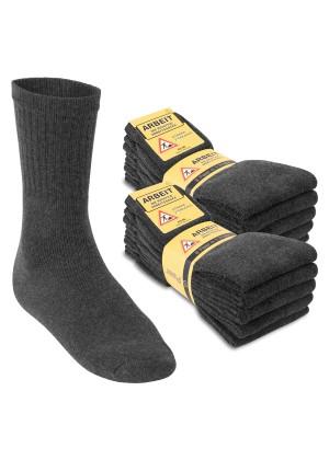 Footstar Herren Arbeitssocken (10 Paar), Robuste Socken mit Frottee-Polsterung - Anthrazit