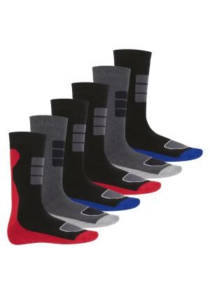 Footstar Herren Wintersocken (6 Paar), Warme Vollfrottee Socken mit Thermo Effekt