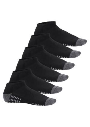 Footstar 6 Paar Sneaker-Socken mit Frotteesohle - Schwarz
