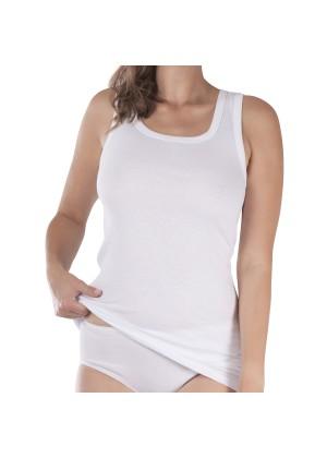 Damen Longshirt Feinripp Exclusive Weiss