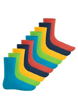 Footstar Herren & Damen Baumwollsocken (10 Paar), Klassische Socken aus Baumwolle - Everyday! - Trendfarben