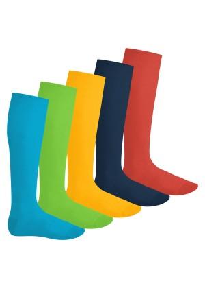 Footstar Herren & Damen Kniestrümpfe (5 Paar), Klassische Strümpfe aus Baumwolle - Everyday! - Trendfarben
