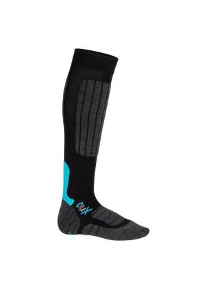 1 Paar CFLEX HIGH PERFORMANCE Ski- und Snowboard Socken Schwarz/Blau