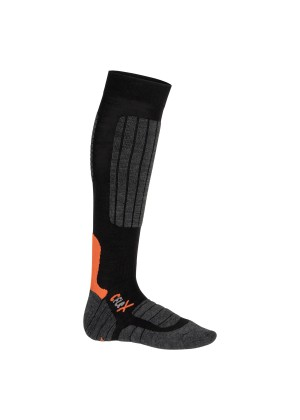 1 Paar CFLEX HIGH PERFORMANCE Ski- und Snowboard Socken Schwarz/Orange