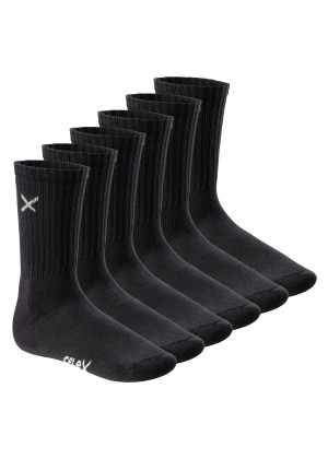 6 Paar CFLEX LIFESTYLE Unisex long Crew Socks Black