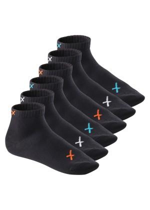 6 Paar CFLEX LIFESTYLE Kurzschaft Sneaker Socken Black Mix