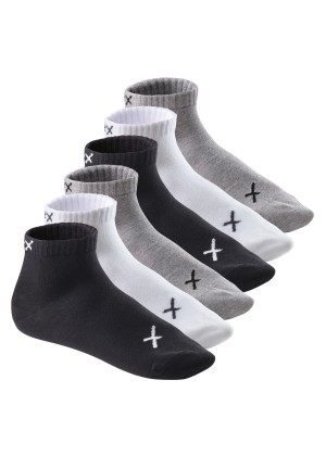 6 Paar CFLEX LIFESTYLE Kurzschaft Sneaker Socken Black / Grey / White