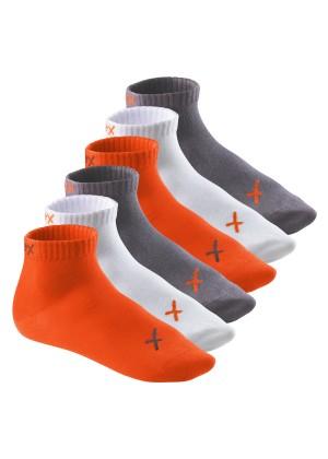 6 Paar CFLEX LIFESTYLE Kurzschaft Sneaker Socken Poppy Excalibur