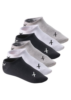 6 Paar CFLEX LIFESTYLE Invisible Sneaker Socks Black / Grey / White