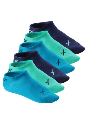 6 Paar CFLEX LIFESTYLE Invisible Sneaker Socks Oceanic