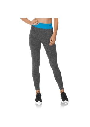 CFLEX Damen Sportswear Leggings, Seamless mit farbigem Komfortbund - Blau
