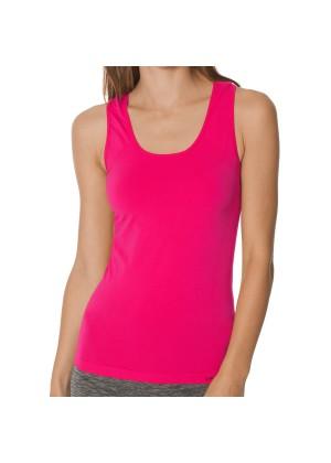 CFLEX Damen Sportswear Seamless Tank Top, Ärmelloses Strech-Oberteil - Pink