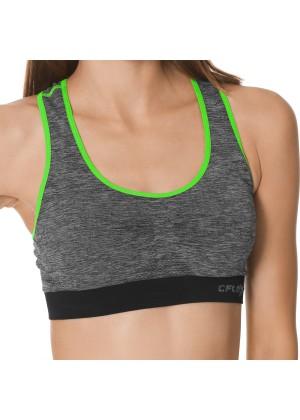 CFLEX Sportswear Damen Sport Bustier - melange-green