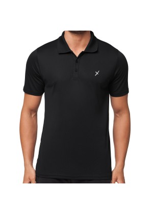 CFLEX Herren Sport Shirt Fitness Polo-Shirt Sportswear Collection - Schwarz