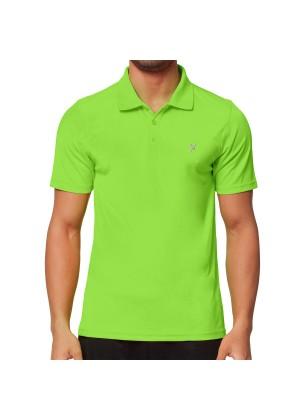 CFLEX Men Sportswear Collection - Herren Polo Shirt - Electric Green