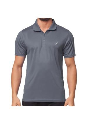 CFLEX Herren Sport Shirt Fitness Polo-Shirt Sportswear Collection - Grau