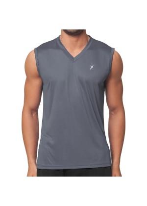 CFLEX Herren Sport Shirt Fitness Muscle-Shirt Sportswear Collection - Grau