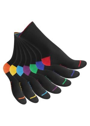 7 Paar Socken abgesetzte Ferse EVERYDAY! BLACKLINE