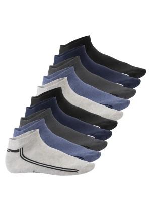 Footstar Damen & Herren Motiv Sneaker Socken (10 Paar) - Jeanstöne