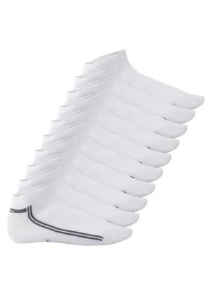 Footstar Damen & Herren Motiv Sneaker Socken (10 Paar) - Weiß