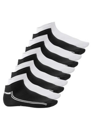 Footstar Damen & Herren Motiv Sneaker Socken (10 Paar) - Schwarz-Weiß-Mix