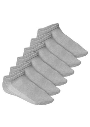 Footstar Herren & Damen Fitness Sneaker Socken (6 Paar), Mesh-Strick, OEKO-TEX - Grau