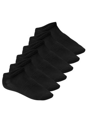 Footstar Herren & Damen Fitness Sneaker Socken (6 Paar), Mesh-Strick, OEKO-TEX - Schwarz