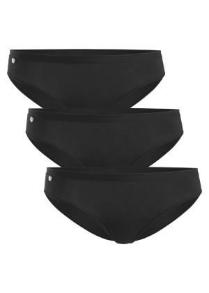 Celodoro Damen Basic Slip - 3er Pack schwarz