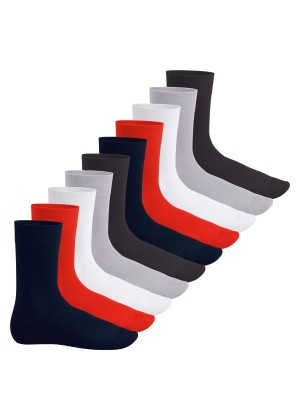 Footstar Herren & Damen Baumwollsocken (10 Paar), Klassische Socken aus Baumwolle - Everyday! - Metropolis