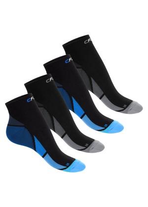 CFLEX Herren & Damen Sport Kompressionssocke (4 Paar), Kurzschaft Socken - Schwarz-Blau und Grau Mix