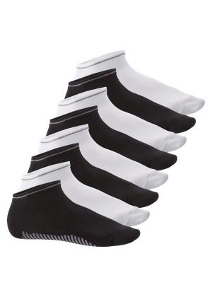 Celodoro Herren Sneaker Socken (8 Paar) - Schwarz-Weiß-Mix
