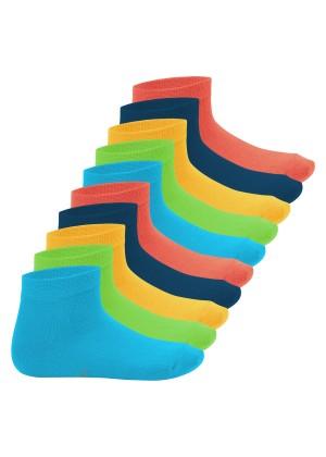 Footstar Kinder Kurzschaft Socken (10 Paar) - Sneak it! - Trendfarben