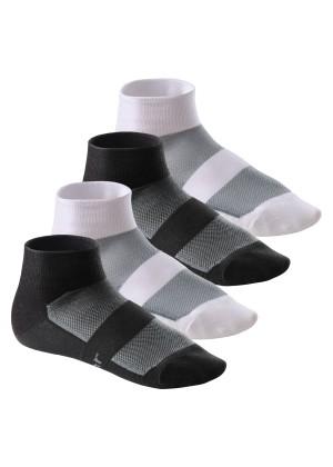 4 Paar COOLMAX® Bike Socken von Footstar Mix (2x Schwarz + 2x Weiss)