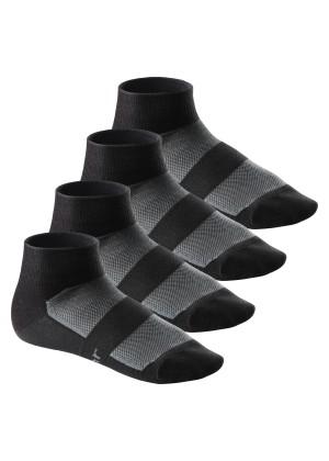 4 Paar COOLMAX® Bike Socken von Footstar Schwarz