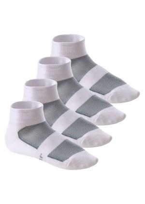 4 Paar COOLMAX® Bike Socken von Footstar Weiss