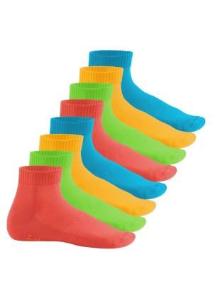 Footstar Damen & Herren Kurzschaft Socken mit Frottee-Sohle (8 Paar) - Sneak it! - Trendfarben