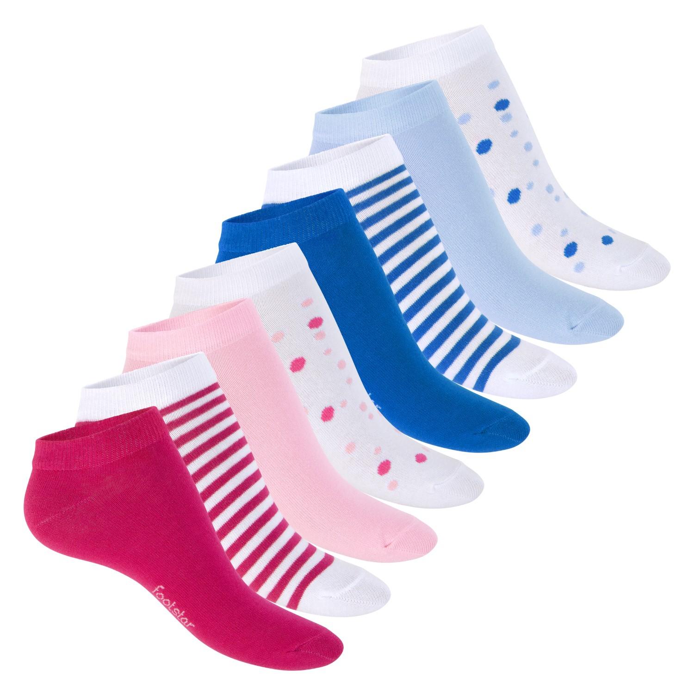 Damen Sneaker 3D Socken Mausmuster mit Pünktchen Gr 36-40