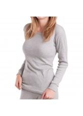 MT Damen Ski- & Thermohemd - Winter Unterwäsche langarm mit Innenfleece - Sports Grey