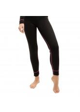 CFLEX Damen Ski- & Thermo Hose - warme Unterwäsche lang POLARDRY - Schwarz-Pink