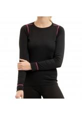 CFLEX Damen Ski- & Thermo Hemd - warme Unterwäsche langarm POLARDRY - Schwarz-Pink