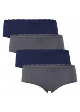 Gomati 4 süße Damen Panty Slips - Navy-Anthrazit