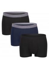 Gomati Herren Lasercut Pants (3er Pack), Seamless-Design Boxer Slip aus Viskose - Dark Mix