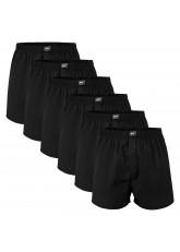 MT Herren Web Boxershorts (6er Pack) American Boxer gewebt aus Baumwolle - Schwarz