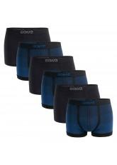 Gomati Herren Seamless Pants (6er Pack), Nahtlose Boxershorts aus Microfaser-Elasthan - Blue Indigo